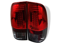 1999-2007 F250 & F350 Spyder LED Tail Lights (Smoke/Red)