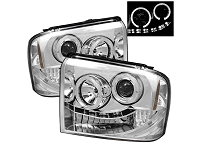 2005-2007 F250 & F350 Spyder LED Projector Headlights (Chrome)