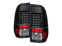 1999-2007 F250 & F350 Spyder Styleside LED Tail Lights (Black)