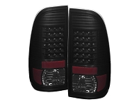 1999-2007 F250 & F350 Spyder Styleside LED Tail Lights (Black Smoke)