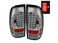 1999-2007 F250 & F350 Spyder Euro Style LED Tail Lights (Chrome)