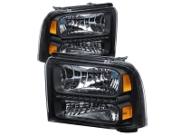 2005-2007 F250 & F350 Spyder LED Headlights (Black)