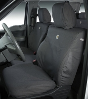 2012-2014 Expedition Carhartt Front Row Seat Covers - Gravel (Bucket Seats, Adjustable Headrests, DVD Player, Seat Airbag)