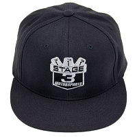 Stage 3 Motorsports Flat-Billed Black Hat