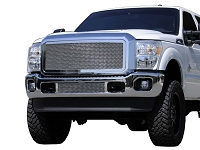 2011-2016 F250 & F350 T-Rex Polished Mesh Lower Grille