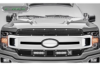 2018-2019 F150 T-Rex X-Metal Torch Series 2-Piece Main Grille Overlay Kit (Black with Chrome Studs)