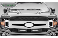 2018-2019 F150 T-Rex X-Metal Torch Series 2-Piece Main Grille Overlay Kit (Black with Black Studs)