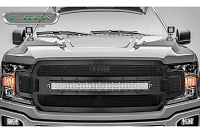 2018-2019 F150 T-Rex X-Metal Formed Torch Series LED Light Bar Upper Grille (Black with Black Studs)