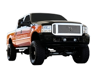 2005-2007 F250 & F350 T-Rex X-Metal Series 3-Piece Insert Studded Main Grille (Stainless Steel)