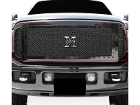 2005-2007 F250 & F350 T-Rex X-Metal Series 3-Piece Insert Studded Main Grille (Tactical Black)