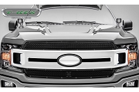 2018-2019 F150 T-Rex X-Metal 2-Piece Main Grille Overlay Kit (Black with Black Studs)