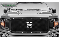2018-2019 F150 T-Rex X-Metal Formed Studded Upper Grille (Black with Chrome Studs)