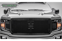 2018-2019 F150 T-Rex X-Metal Formed Studded Upper Grille (Black with Black Studs)