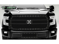 2015-2017 F150 with Front Camera T-Rex X-Metal Studded Upper Grille (Black)