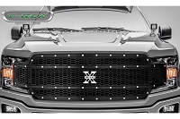 2018-2019 F150 T-Rex X-Metal Studded Upper Grille (Black with Chrome Studs)