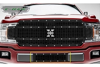 2018-2019 F150 T-Rex Laser X-Metal Studded Lower Bumper Grille (Black with Chrome Studs)
