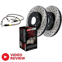 2010-2011 F150 StopTech Front Drilled & Slotted Sport Axle-Pack Brake Kit