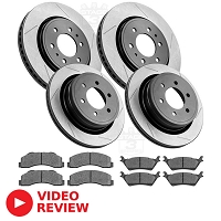 2010-2011 F150 StopTech Front & Rear Slotted Street Axle-Pack Brake Kit