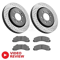 2010-2014 F150 StopTech Front Drilled & Slotted Street Axle-Pack Brake Kit