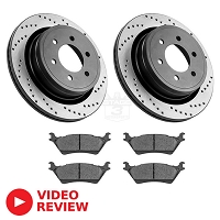 2012-2018 F150 StopTech Rear Drilled Street Axle-Pack Brake Kit