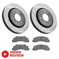 2015-2018 F150 StopTech Front Drilled & Slotted Street Axle-Pack Brake Kit