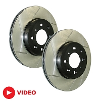 2005-2010 Mustang GT StopTech Slotted Front Rotors (Will Fit 11-14 V6)