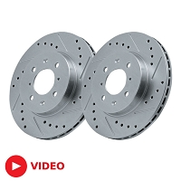 2005-2014 Mustang StopTech C-Tek Rear Rotor Kit - Drilled & Slotted (Excludes 13-14 GT500)