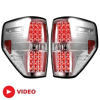 2009-2014 F150 & Raptor Recon Clear LED Tail Lights