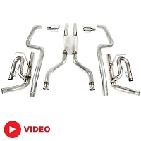 2011-2014 Mustang GT Solo Performance Mach-X Cat-Back Exhaust Kit
