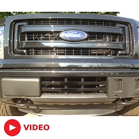2009-2014 F150 Boost-Bars Gloss Black Lower Two-Bar Grille