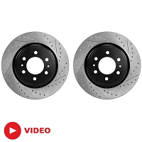2010-2018 F150 & Raptor StopTech Cross-Drilled & Slotted Front Rotors