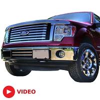 2011-2014 F150 Boost-Bars Chrome Lower Two-Bar Grille