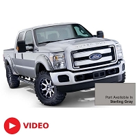 2011-2016 F250 & F350 Bushwacker Pocket Style Fender Flares (Pre-Painted Sterling Gray)