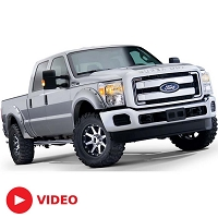 2011-2016 F250 & F350 Super Duty Bushwacker Pocket Style Fender Flares
