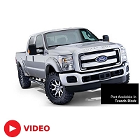 2011-2016 F250 & F350 Bushwacker Pocket Style Fender Flares (Pre-Painted Tuxedo Black)