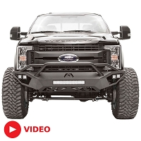 2017-2019 F250 & F350 Fab Fours Vengeance Series Front Bumper with Pre-Runner Guard