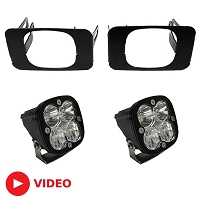 2017-2019 F250 & F350 Baja Designs Squadron Sport Driving/Combo Off-Road LED Fog Light Kit (Includes Mounts)