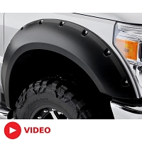 2017-2019 F250 & F350 Bushwacker Pocket-Style Fender Flares (4 pc. - Unpainted)