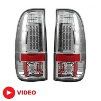 2008-2016 F250 & F350 Recon Clear LED Tail Lights