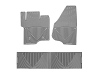 2011-2016 F250 & F350 Crew Cab WeatherTech All-Weather Front & Rear Floor Mats (Gray)