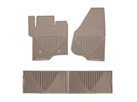 2011-2016 F250 & F350 Crew Cab WeatherTech All-Weather Front & Rear Floor Mats (Tan)