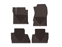 2017-2019 F250 & F350 WeatherTech All-Weather Front & Rear Floor Mats - Cocoa (SuperCab)