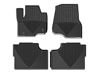 2017-2019 F250 & F350 WeatherTech All-Weather Front & Rear Floor Mats - Black (SuperCrew)