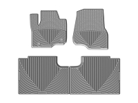 2017-2019 F250 & F350 WeatherTech All-Weather Front & Rear Floor Mats - Gray (SuperCab)