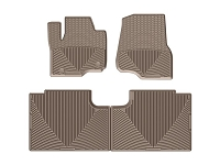 2017-2019 F250 & F350 WeatherTech All-Weather Front & Rear Floor Mats - Tan (SuperCab)