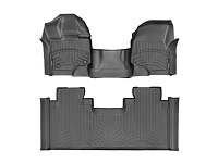2015-2019 F150 SuperCab with Front Bench WeatherTech Floor Liner Digital Fit (Black)