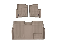 2009-2014 F150 & Raptor SuperCrew WeatherTech Front & Rear Digital Fit Floor Mats (Tan)