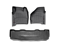 1999-2007 Super Duty SuperCrew WeatherTech Digital Fit Front & Rear Floor Mats (Black)