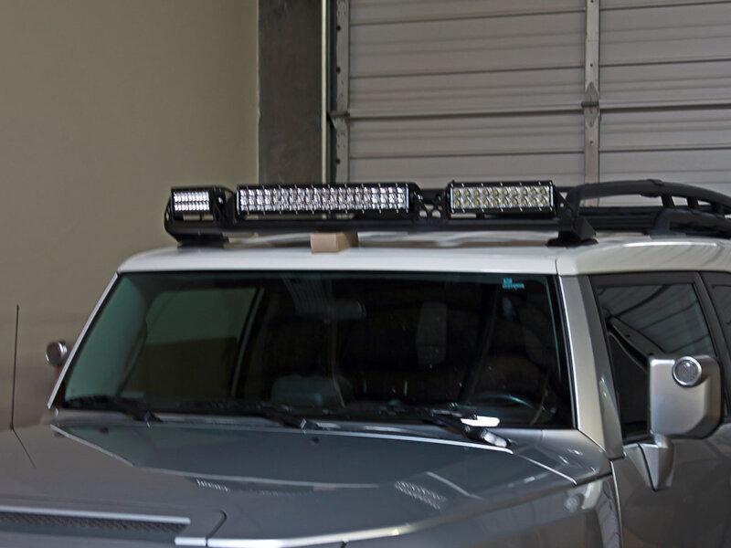 roof rack fj cruiser toyota light mount rigid industries kit 2005 series led accessories bar lighting mounts jeep diy brackets