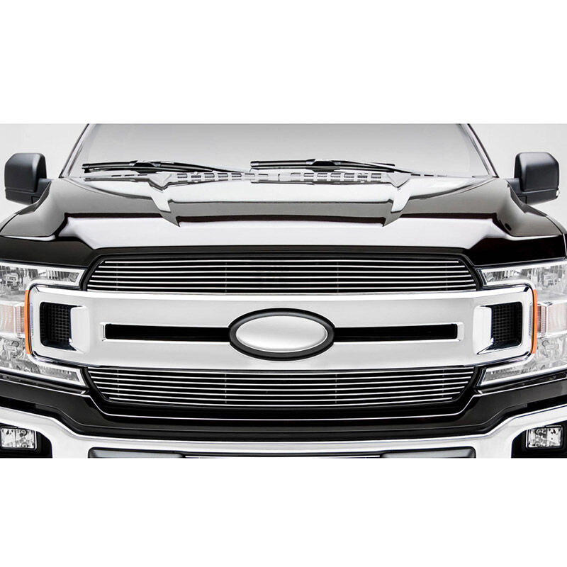 2018-2019 F150 XLT & Lariat T-Rex Billet Series Two-Piece Upper Grille Overlay Kit (Polished)